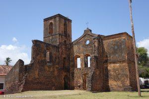 Brésil, facade des ruines d'Alcantara