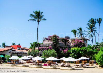 Jericoacoara au Brésil, pousada sur la plage