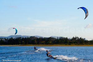 Brésil, kitesurf sur la lagune