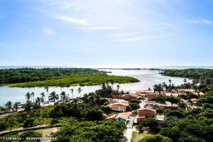 Brésil, village de Mandacaru sur le Rio Preguicas