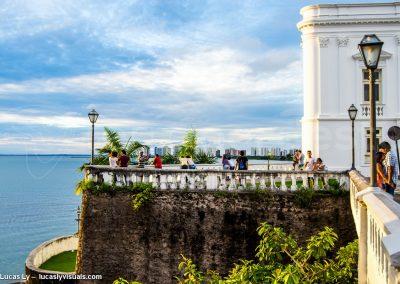 Brésil Sao Luis, vue sur la baie et l'océan depuis le centre historique colonial