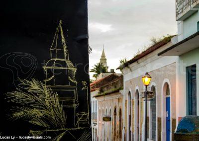 Dessin façade coloniale à Sao Luis