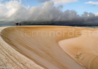 Lencois, Brésil, les dunes du parc sous la pluie