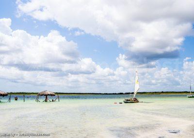Jangada au Brésil, la lagune bleue