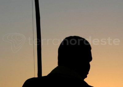 Jericoacoara, coucher de soleil sur un joueur de capoeira