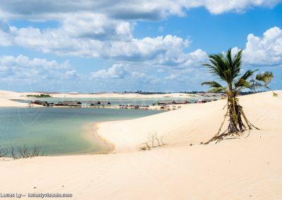 Jericoacoara, brésil, la lagune torta