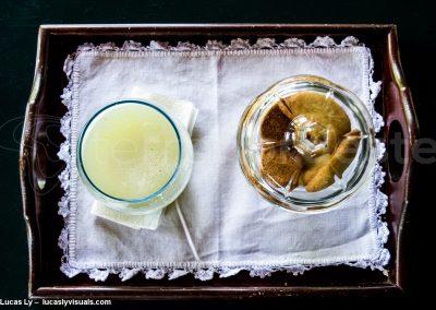 Brésil, un jus cupuacu servi dans une pousada