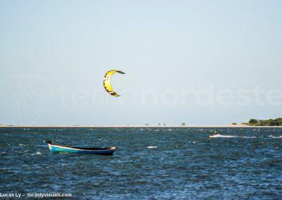 Brésil, kitesurf sur le rio Preguicas