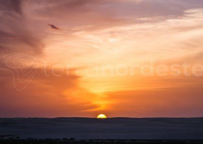 Coucher de soleil sur le parc des Lencois Maranhenses