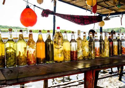 Atins au Brésil, liqueur artisanale