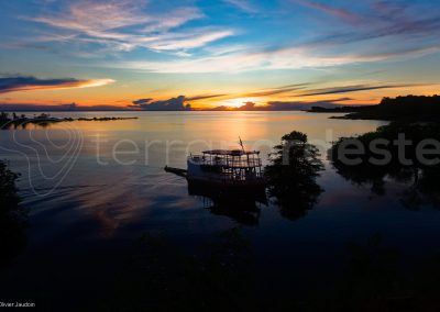 Amazonie, solimoes Brésil - bateau de croisière