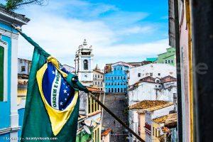 Salvador de bahia - Drapeau brésilien