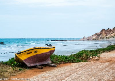 Brésil, Canoa Quebrada, route pavée