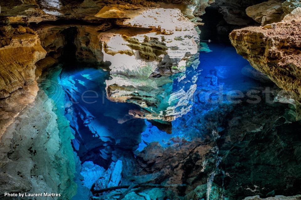 Bresil - Chapada Diamantina - Poco Azul grotte bleue