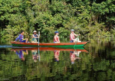 Brésil - excursion canoë forêt primaire amazone