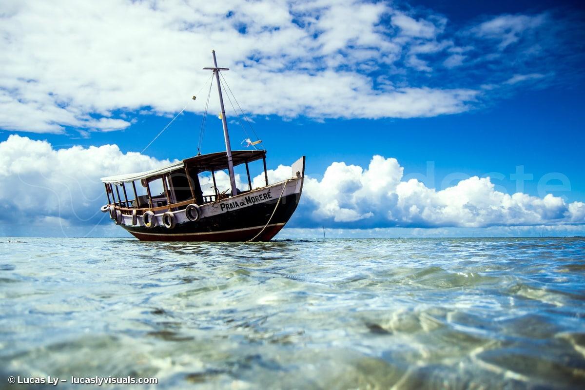 Brésil Ilha Boipeba - Bateau morere