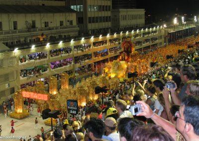 Bresil, Rio Janeiro - carnaval char au sambadrome