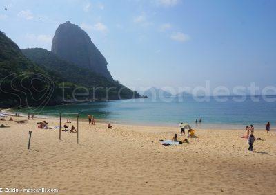Bresil, Rio - Plage Carioca, vue pain de sucre