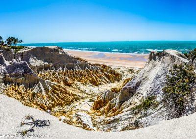 Canoa Quebrada, vallée, falaises et plage