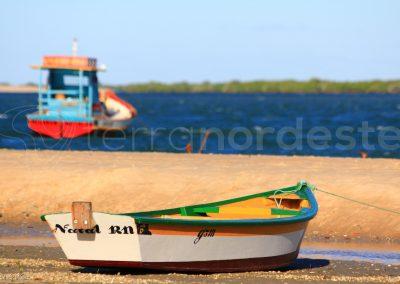 Brésil, nordeste, Galinhos, barque fleuve