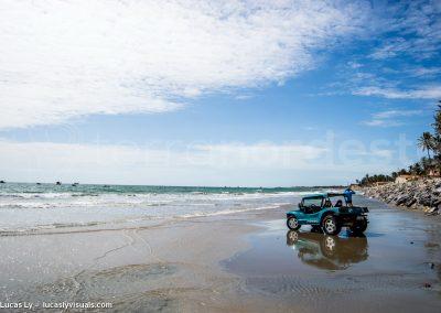 Galinhos, brésil, buggy sur la plage
